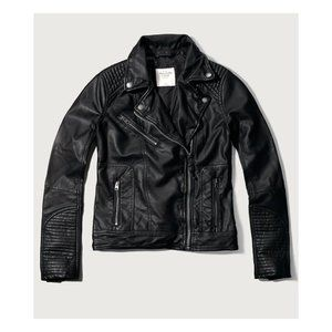 "Abercrombie & Fitch Vegan ""Leather"" Moto Jacket"